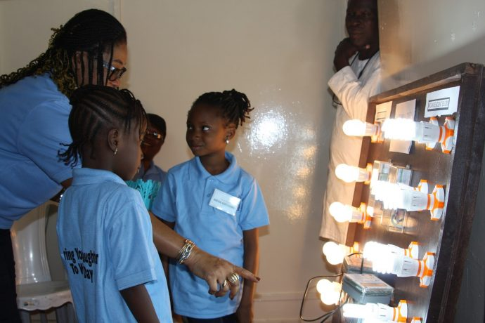 At EkoElectricty Power Distribution Co. in Nigeria, girls learn about principles of electricity. /EkoElectricity Power Distribution Co.