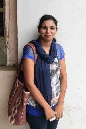 Anju, before heading off to a job interview. /Amy Fowler, USAID