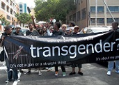 Gender DynamiX participants march in the Cape Town Pride in 2013. P​hoto: Gender DynamiX​