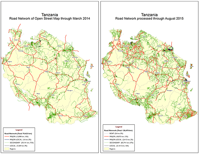 Before and After: Tanzania's Road Network