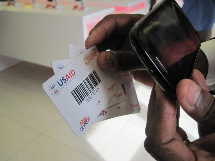 In Haiti, USAID has supported delivery of vouchers that can be read by a simple barcode reading app. / Naomi Logan, USAID