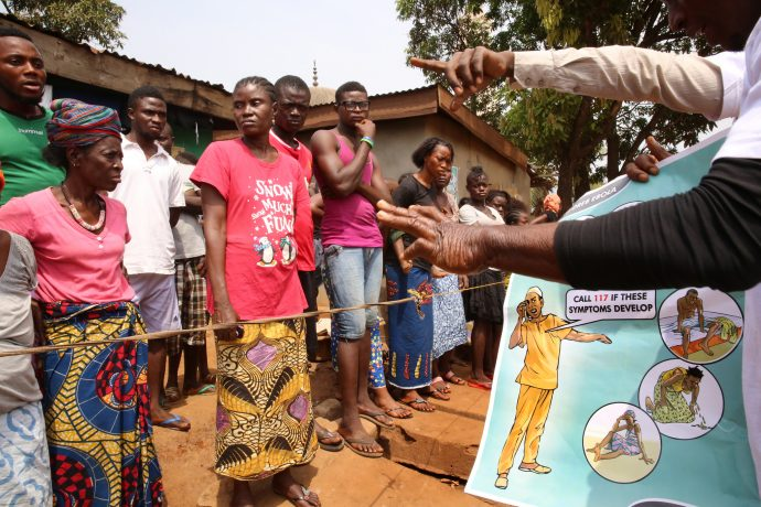 Health education efforts in Sierra Leone during the Ebola outbreak. / World Bank Group