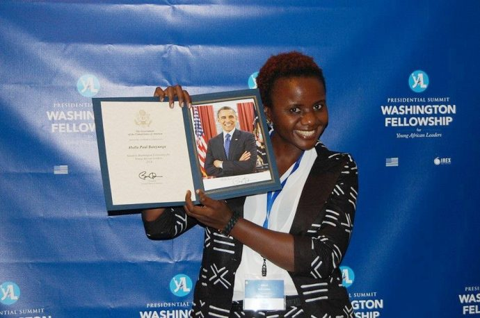 Abella Paul Bateyunga was chosen by USAID partner IREX as a Young African Leadership Initiative fellow in 2014. / Courtesy of Abella Bateyunga
