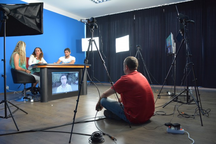 To help media in Georgia stay ahead of changing trends and technology, the USAID-supported New Media Initiative is working with media organizations like the Information Center of Kakheti to build TV studios for streaming news programming online. /Gela Mtivlishvili