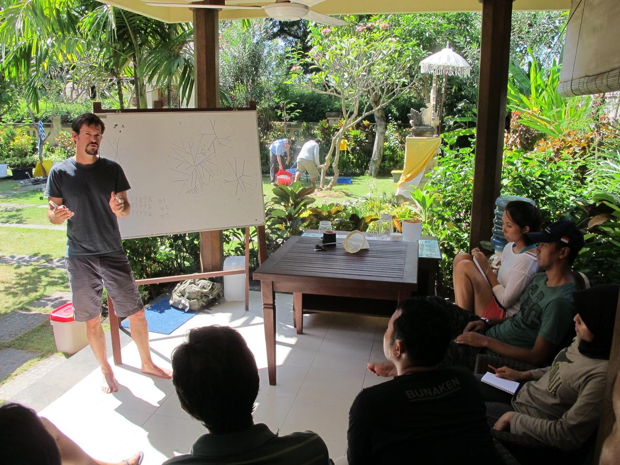 Chris Meyer teaching in Bali.
