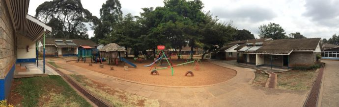 An outdoor playground