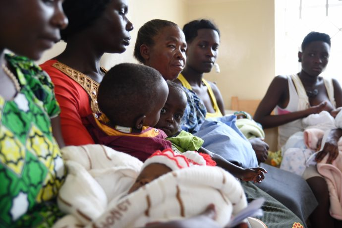 Women at Kyenjojo Hospital, Uganda.